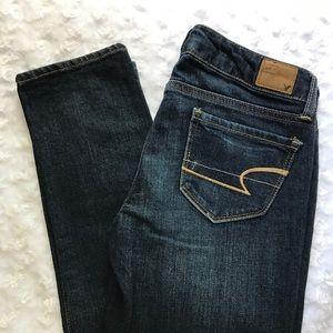 American Eagle Skinny Jeans in Dark Wash